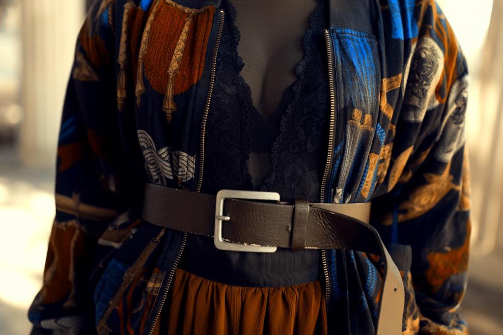 Outfit mit Taillengürtel