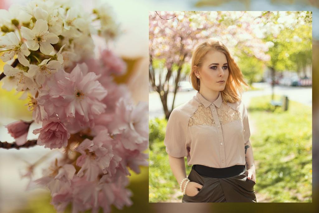 Fashion Bloggerin Christina Key aus Berlin trägt schickes Make Up und die blonden Haare glatt