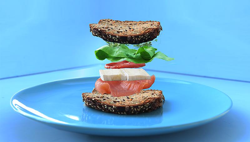 Feigen Senf Lachs Sandwich