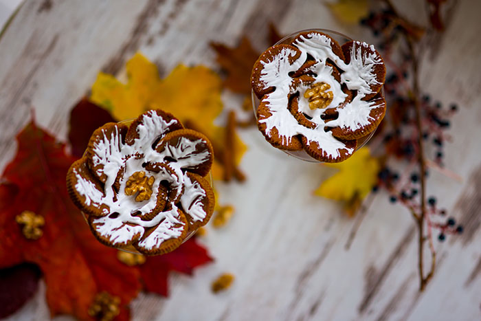 Kürbis Kuchen Blume