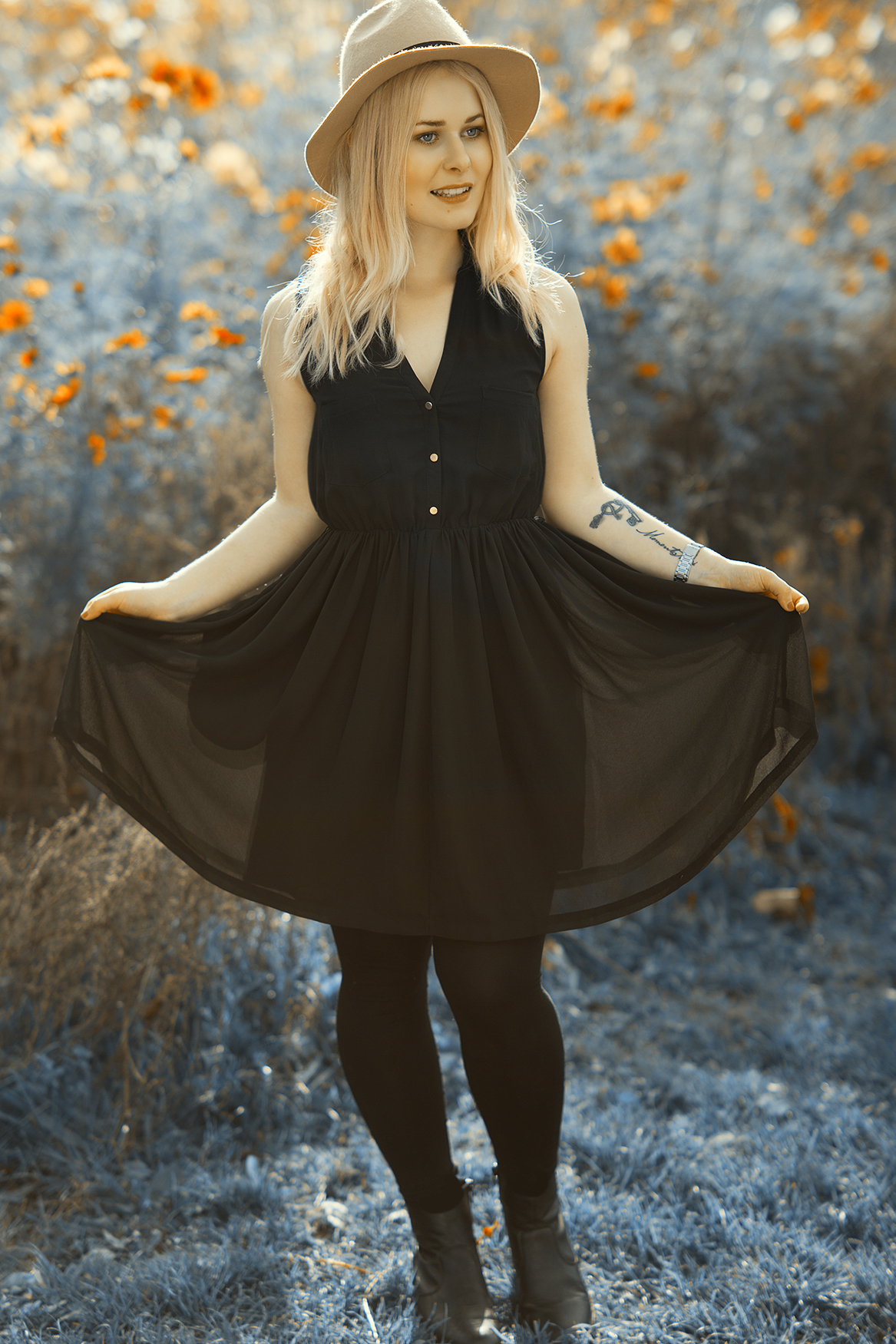Schwarzes Sommer Kleid
