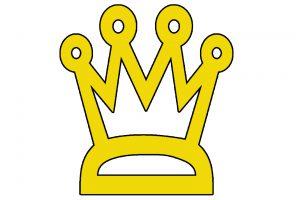 Gezeichnete Krone in gelb
