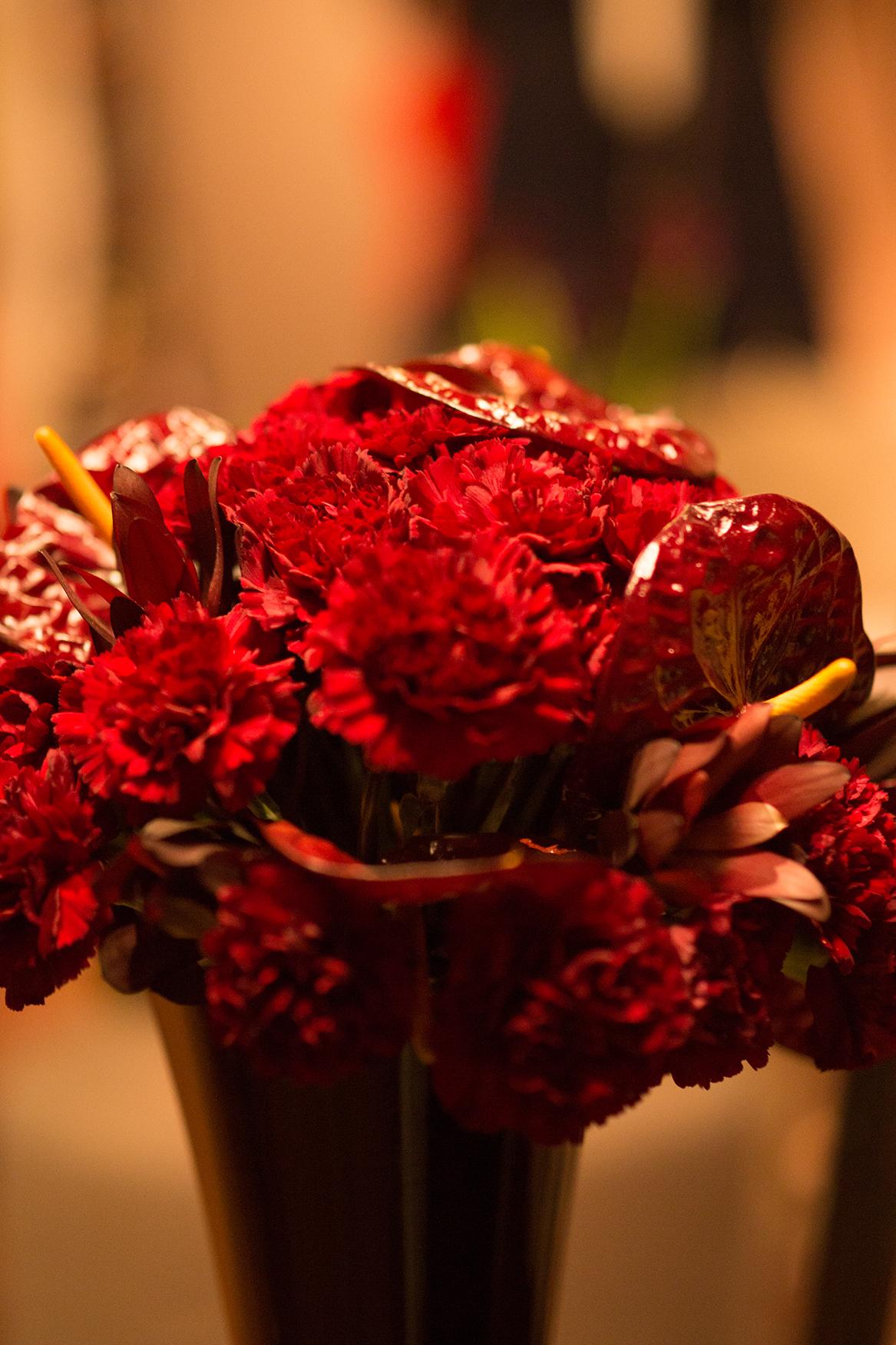 roter Blumenstrauss
