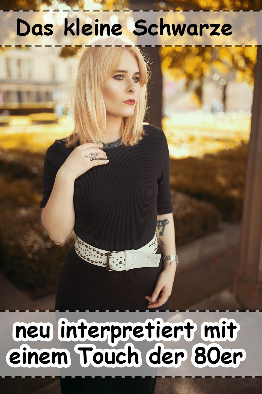 Das kleine schwarze mal anders // Schicker Herbstlook mit Kleid & Jeansjacke