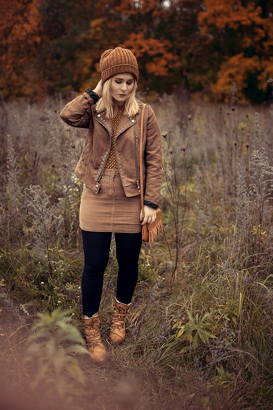 Herbst Outfit in braun
