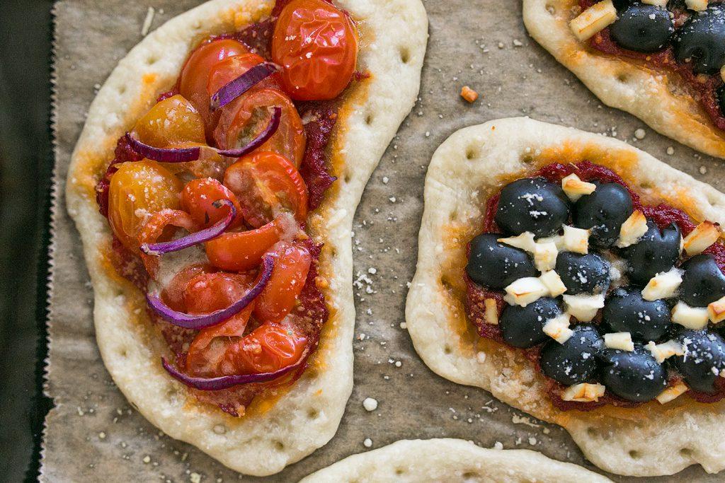 Knuspriges Tomaten Pizza Teilchen