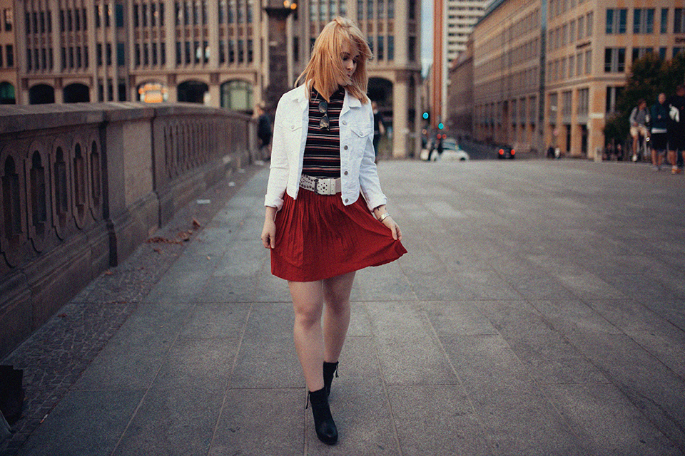 Herbst Outfit mit Rock