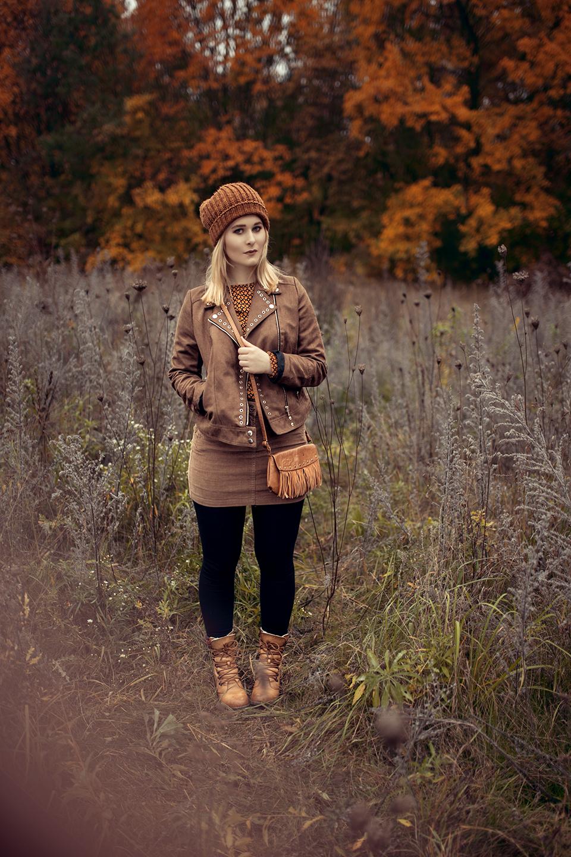 warmes herbst outfit frau cord rock