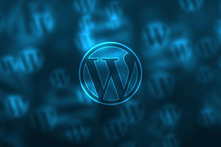wordpress logo blau