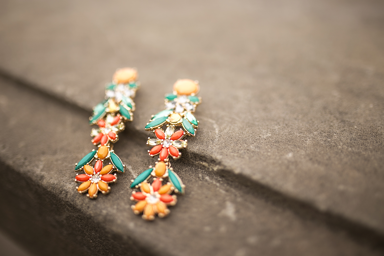 ohrringe-floral-vintage-blumen-orange-gold
