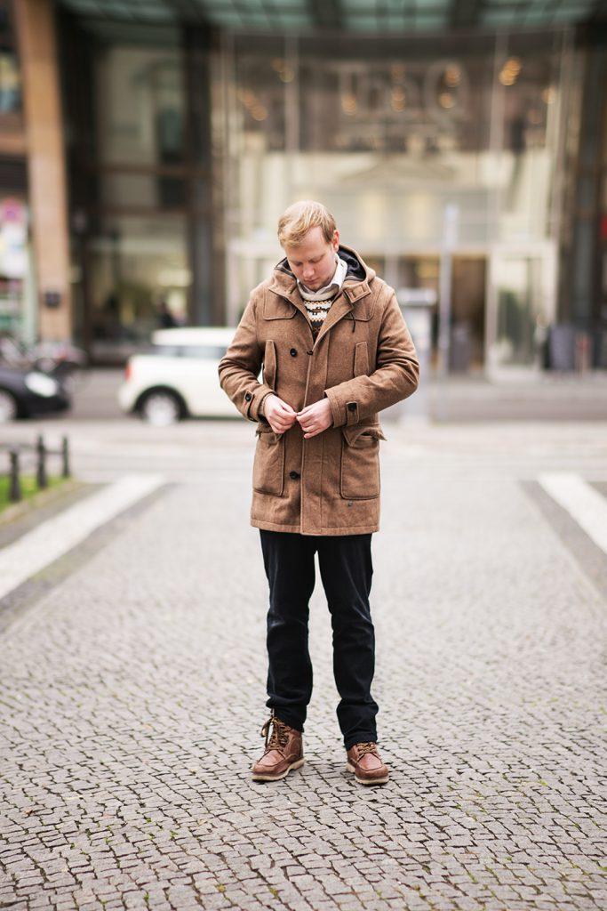 Parka Braun Männer Outfit