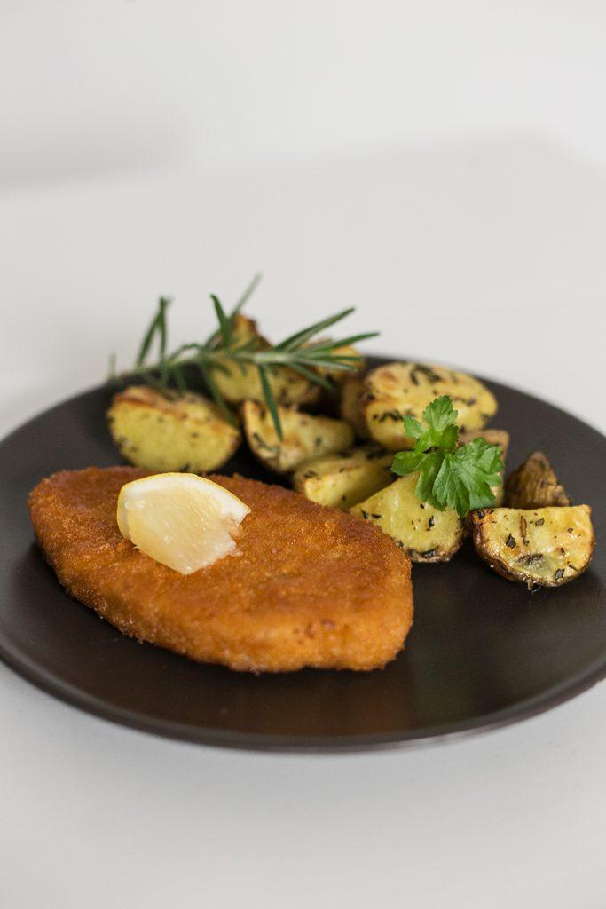 Vegetarisches Schnitzel Gericht