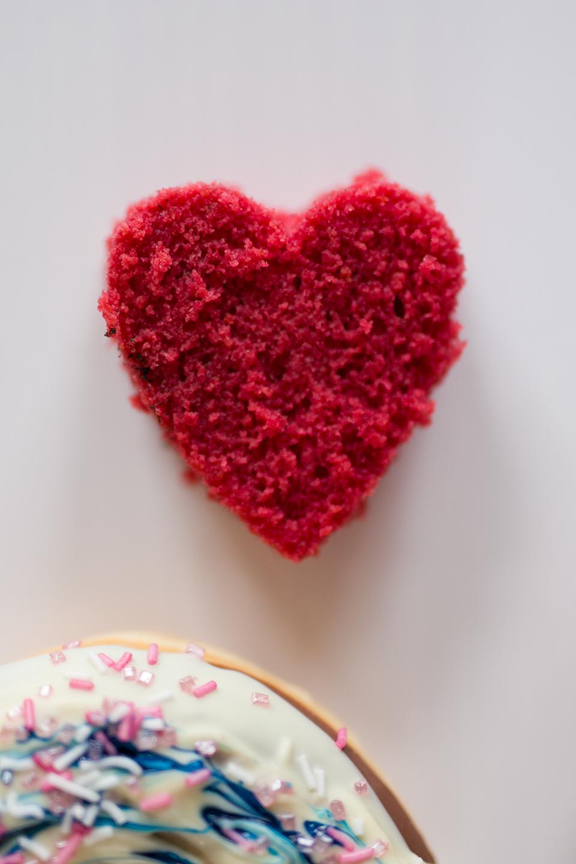 Rote Herzen zum Essen