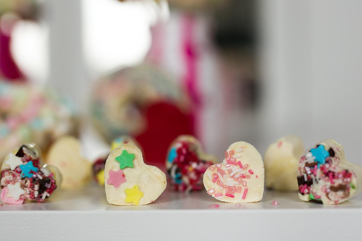 Weiße Schokolade Pralinen