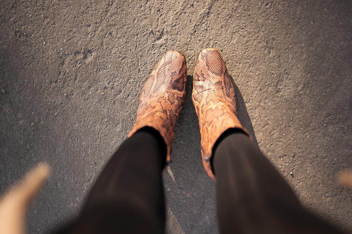 schlangenleder boots