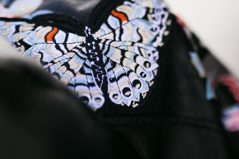 Schmetterling Stickerei Jacke