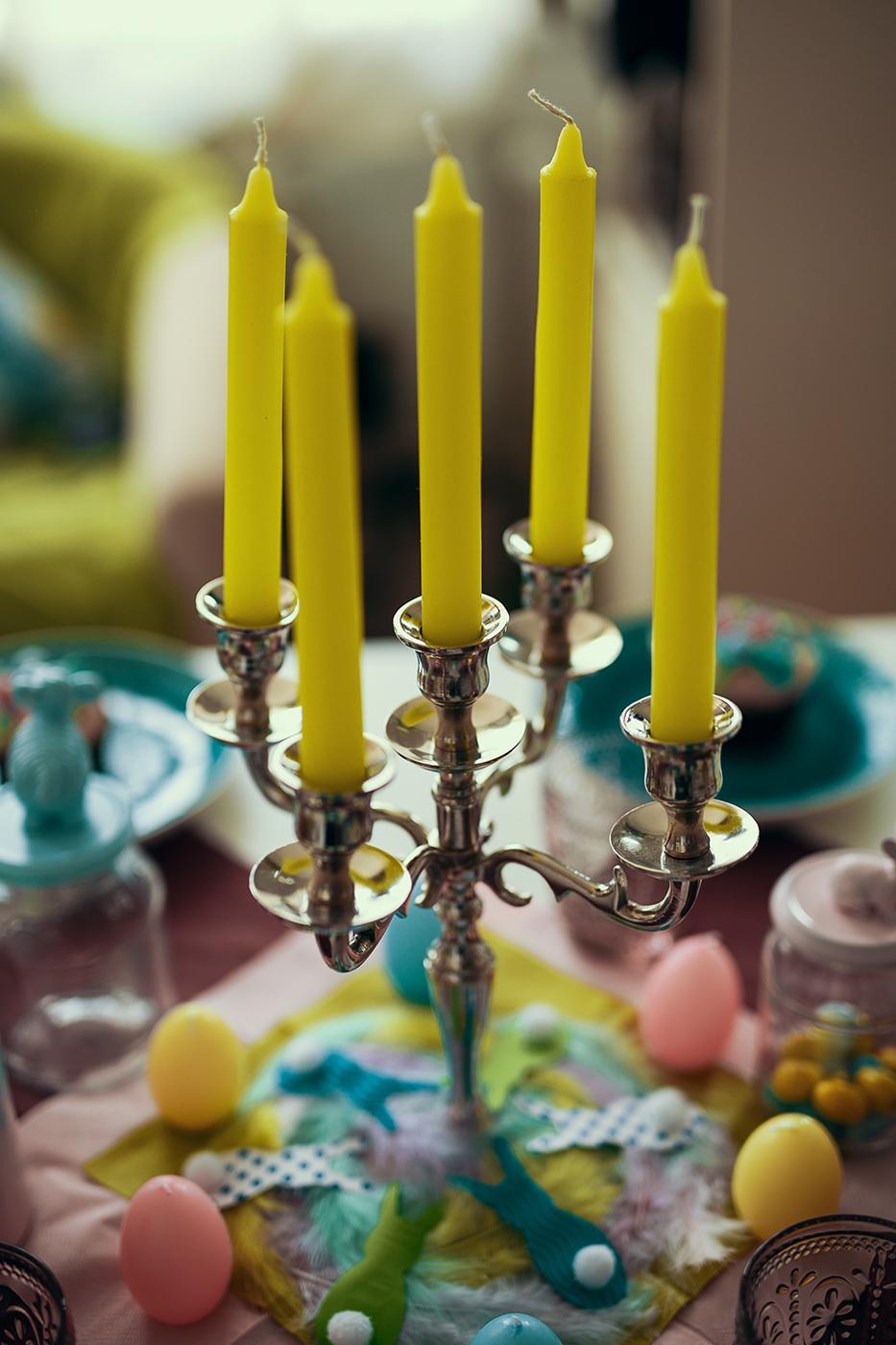 Farbenfrohe Tischdeko
