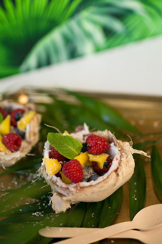 Kokosnuss Dessert in Schale