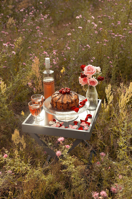 Kirschkuchen Picknick