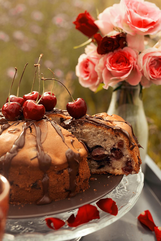 Kirschkuchen Schokolade Bree Wine