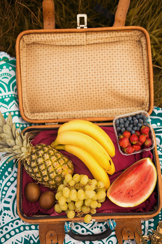 Picknick Korb mit Obst