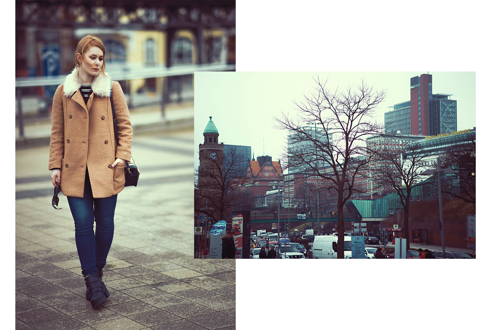 Christina Key is wearing a perfect winter outfit in Hamburg