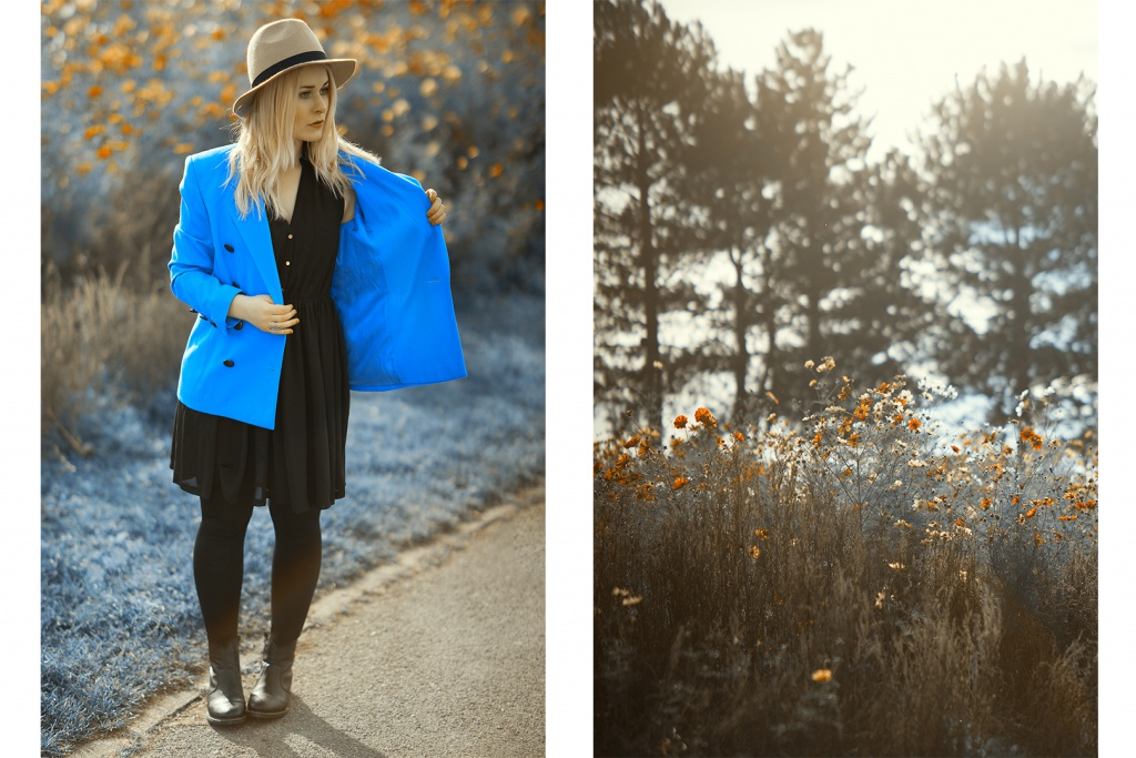 Fashionbloggerin Christina Key aus Berlin im royal blauen Escada Blazer