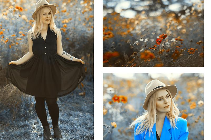 Schwarzes Kleid, Frühlingsoutfit