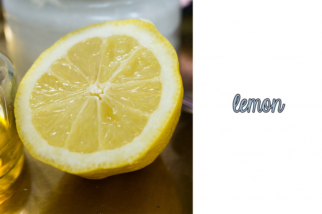 a yellow lemon