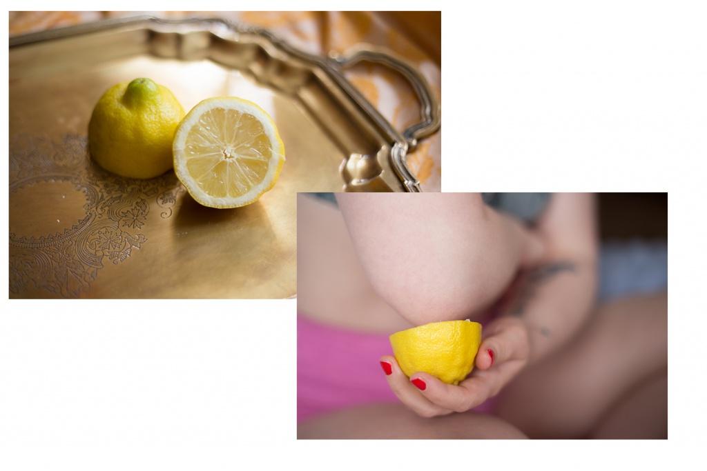 Zitronen gegen verhornte Haut Stellen