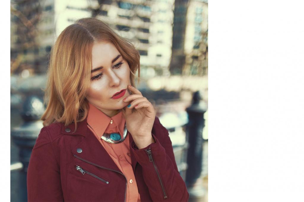 Portrait of fashion blogger girl Christina Key