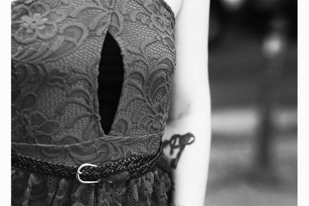 Details Spitzen Outfit