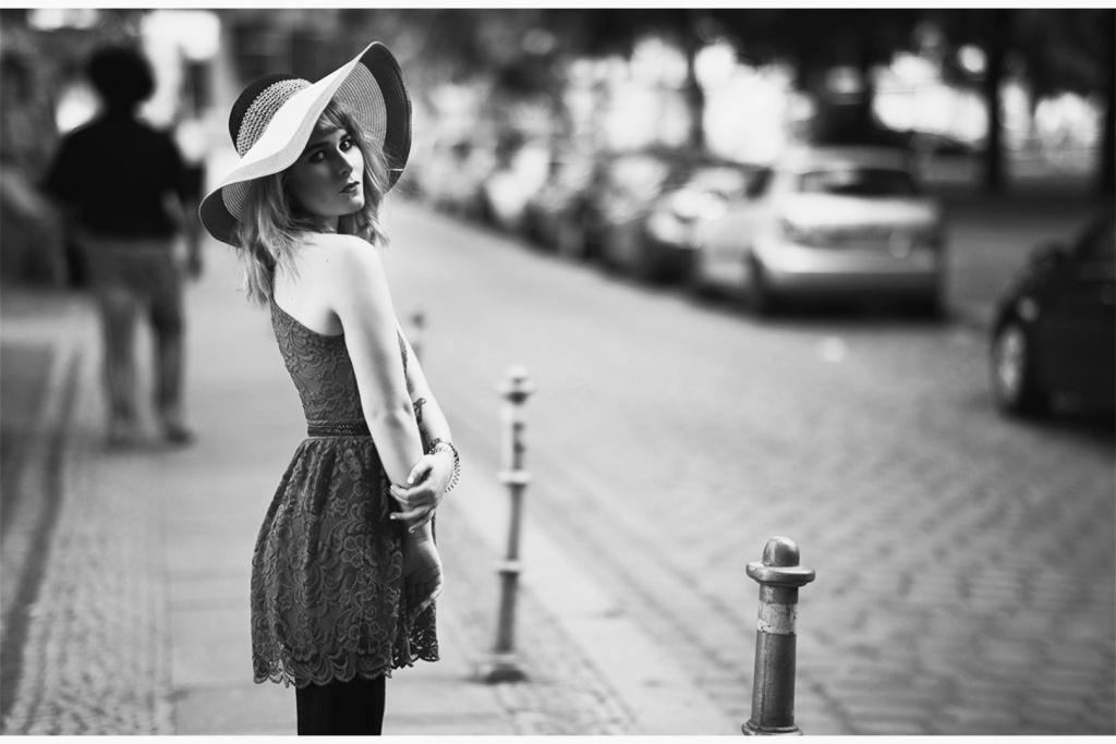 Schwarz-weiß Portrait Fashion