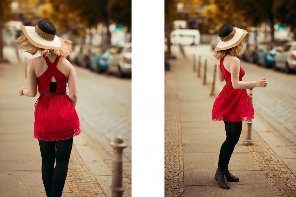 Sommer Kleid schwarze Leggins