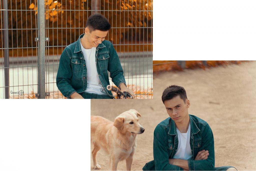 Kai Lawall mit Hund