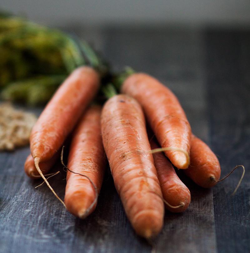 rohe Karotten naturbelassen