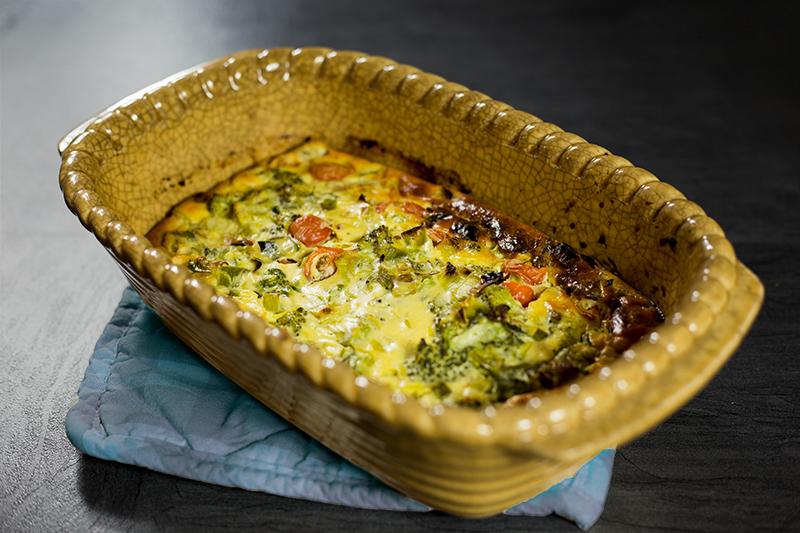 Tomato Broccoli soufle