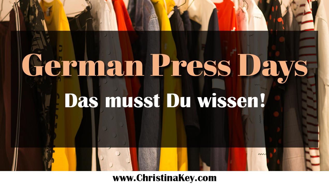 German Press Days Das musst Du wissen