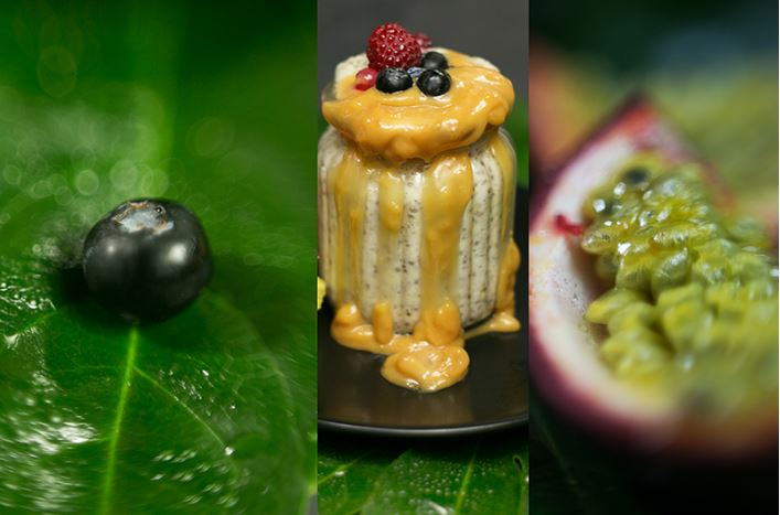 Kiwi Sungold Dessert mit selbstgemachter Karamell Sosse