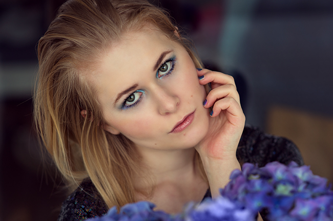 Blaues Augen Make-Up