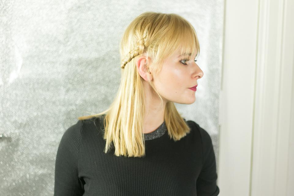 Geflochtener Zopf blond