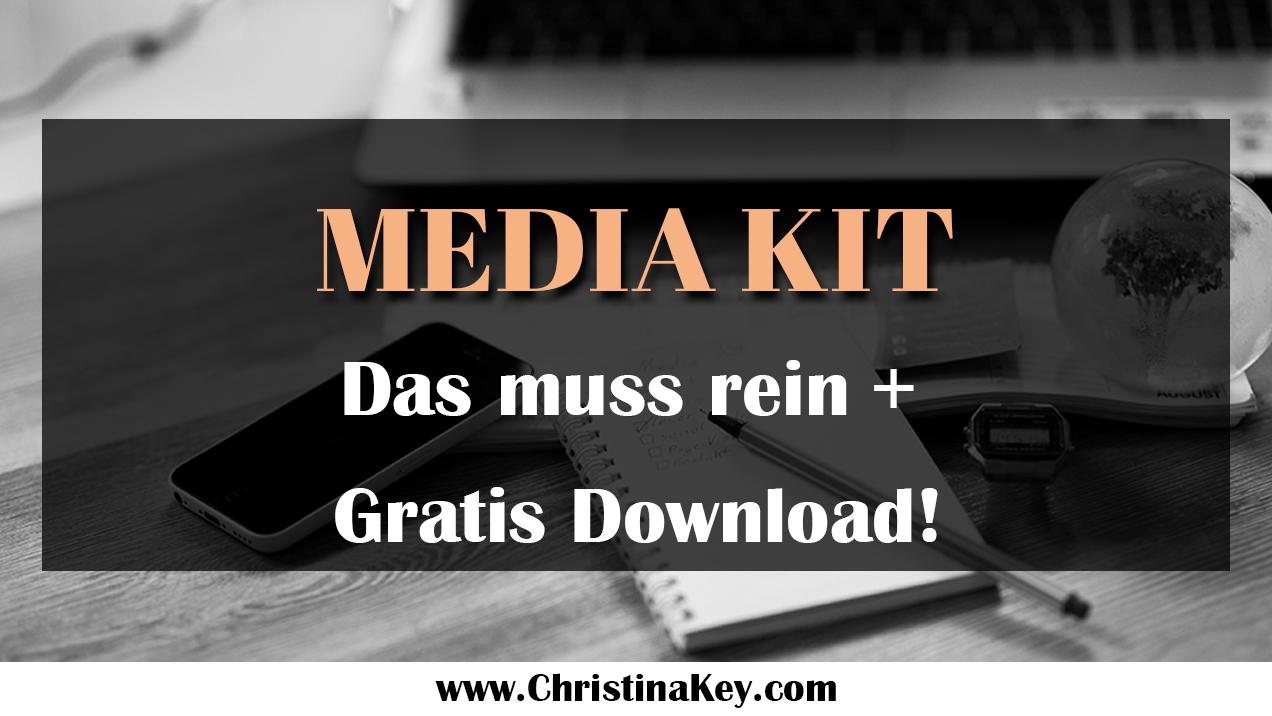 Media Kit Gratis Vorlage