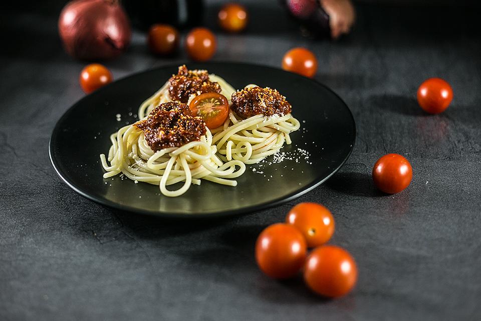 Spaghetti mit Grana Padano Tomaten Soße
