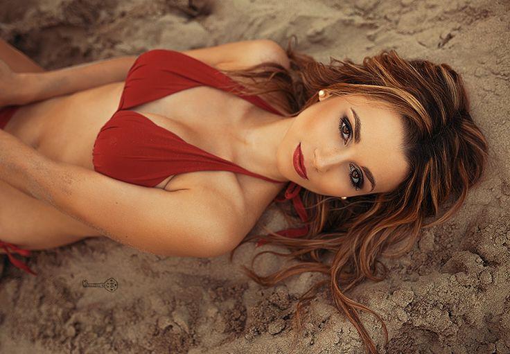 Sinnliches Sommer Portrait Frau