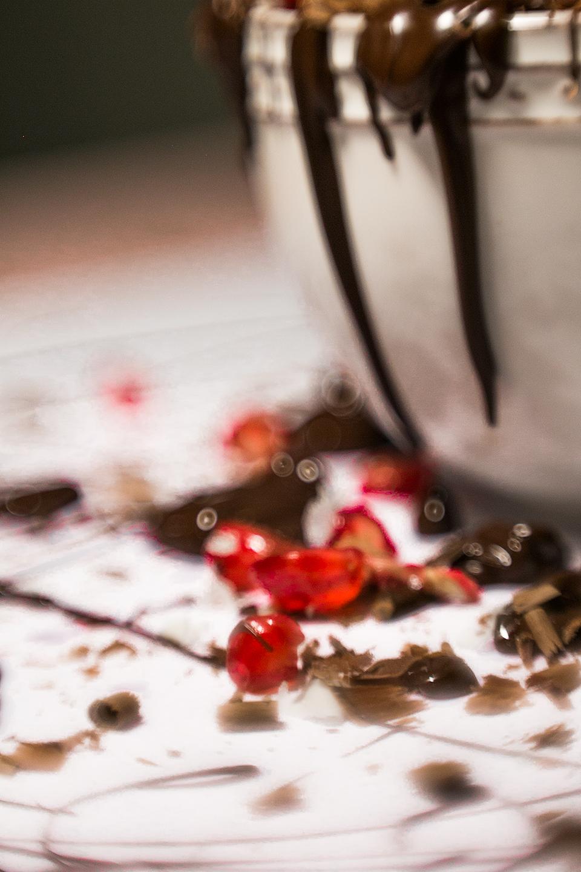 Granatapfel mit Schokolade