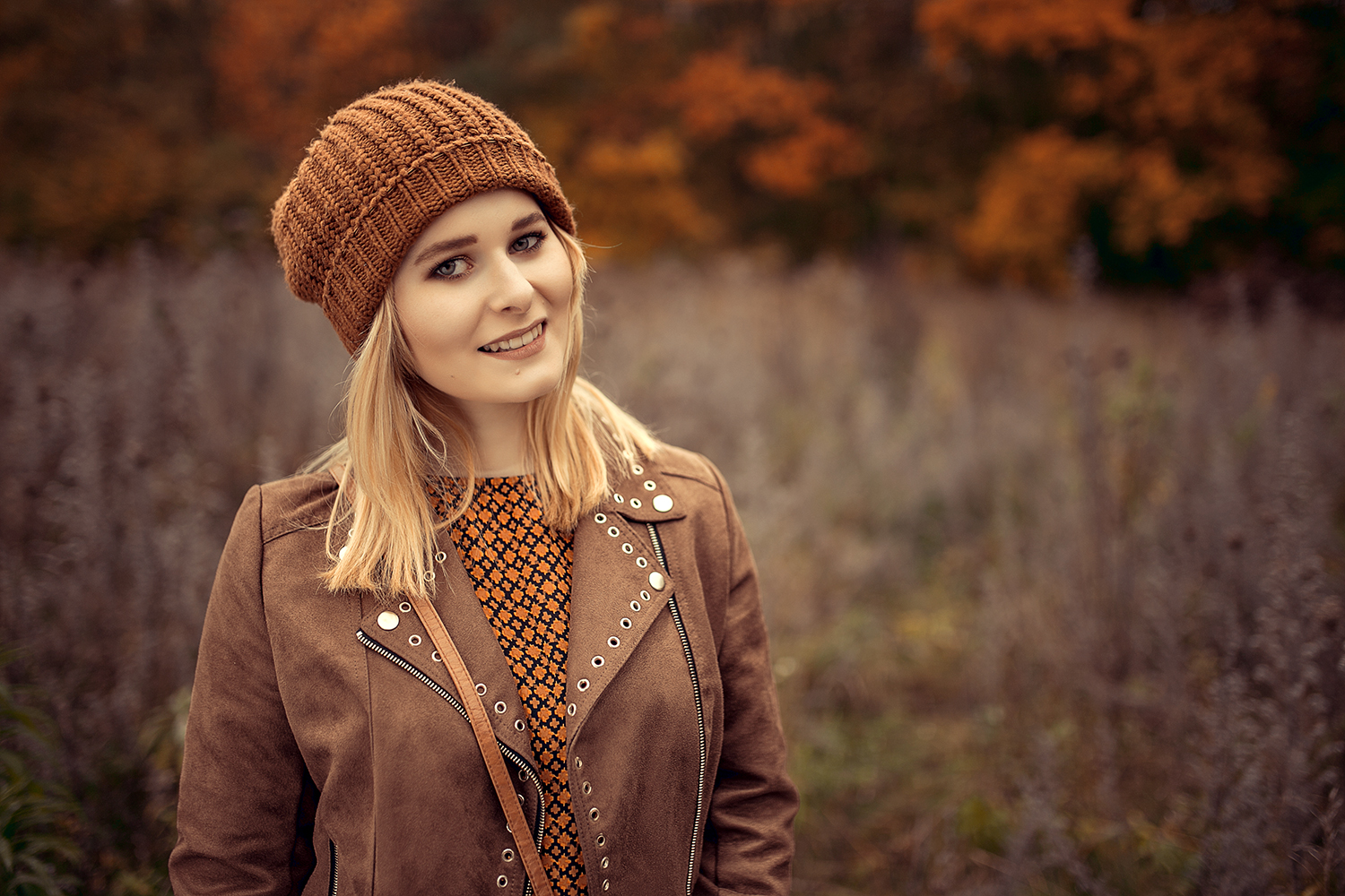 Warmes Herbst Outfit in braun