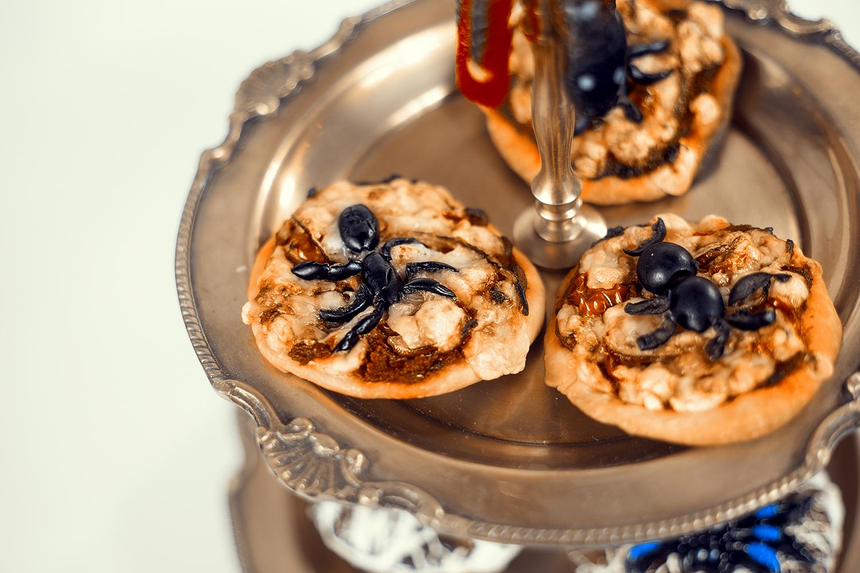 Halloween Rezept Idee Pizza Teilchen