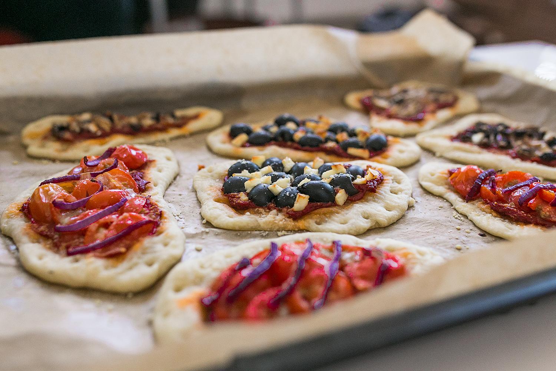Leckere Pizza Teilchen. Das Rezept.