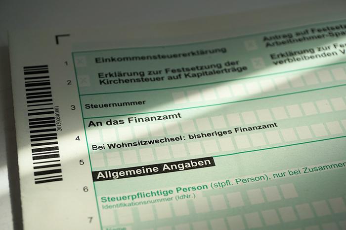 steuererklärung formular Finanzamt Anmeldung