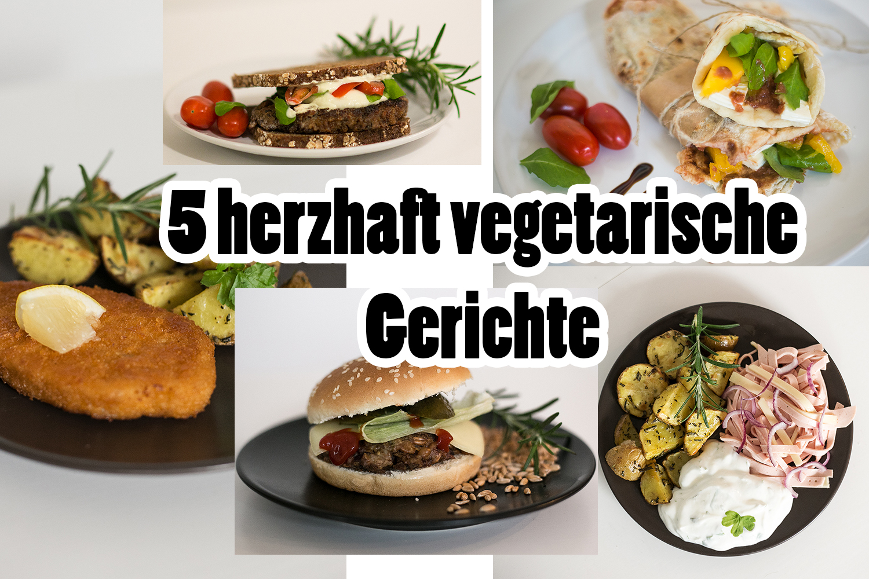 herzhaft vegetarische Gerichte
